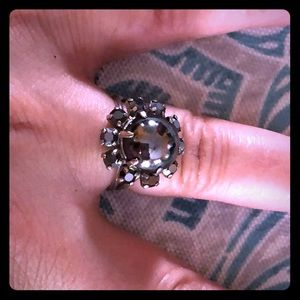 Black  Mirror Stone Mysterious ring